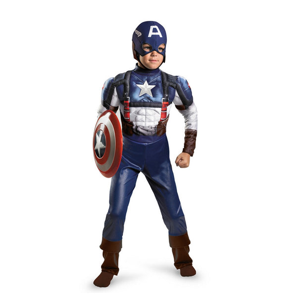 Kids Captain America Retro Classic Muscle Costume