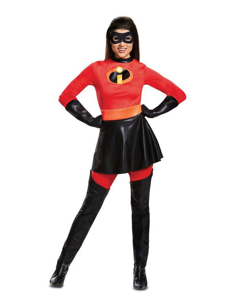 Adult Mrs. Incredible Costume w/ Skirt- Incredibles 2