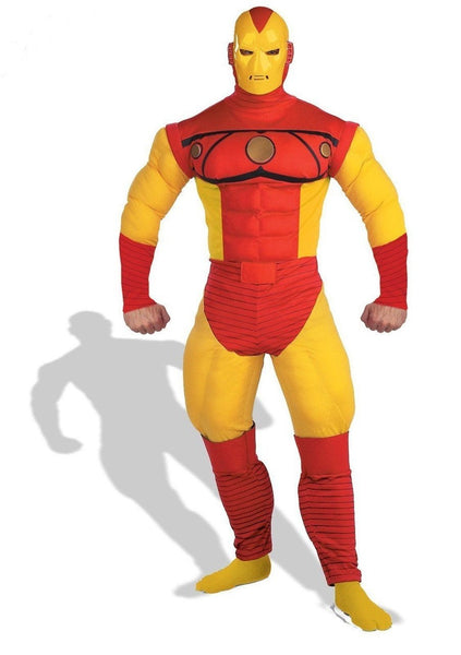 Adult Iron Man Muscle Deluxe Costume