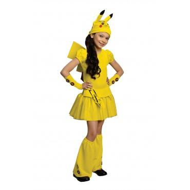 Girls Pikachu Pokemon Costume