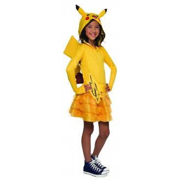 Girls Pikachu Pokemon Hoodie Dress