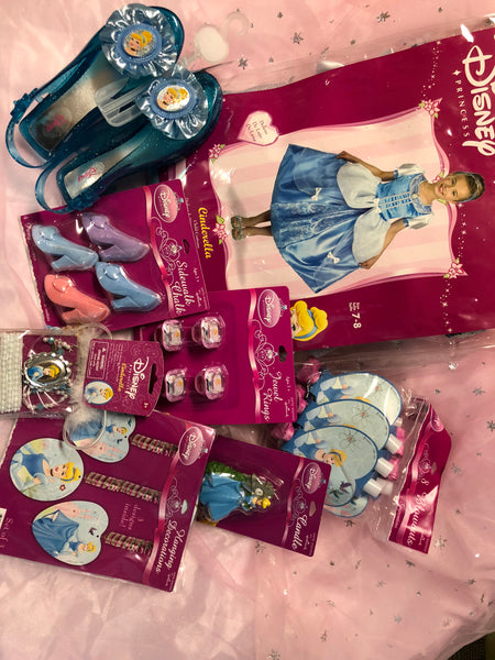 Cinderella Costume Party Package (Size 7-8)