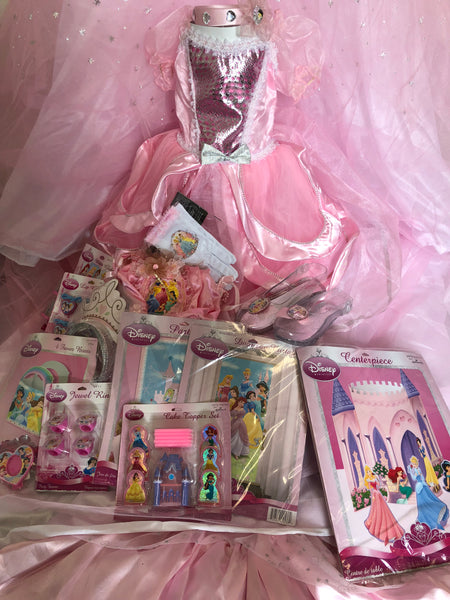 Princess Party Set for 8 w/costume for the Birthday Girl