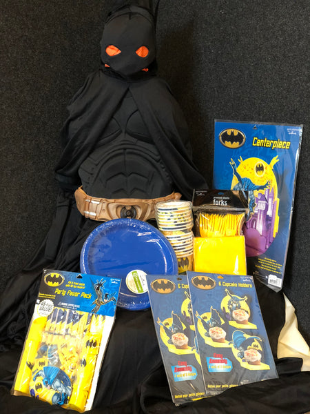 Boys Batman Party Package (Size 2T-4T)