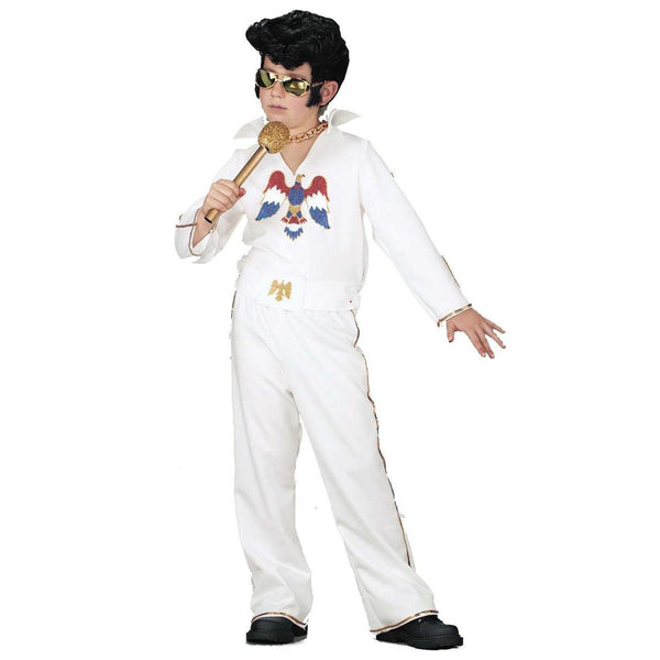 Child Elvis Presley White Jumpsuit Costume