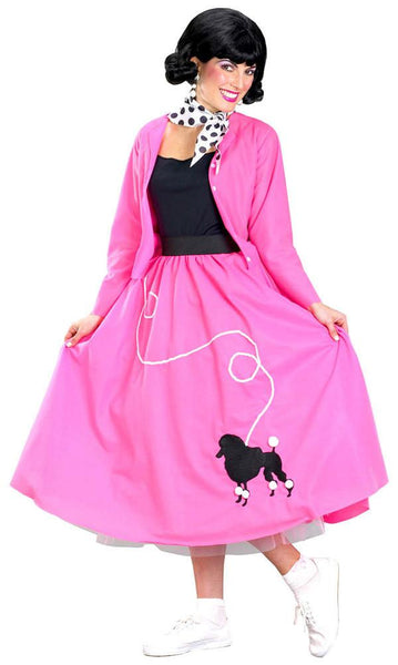 Adult Grease Poodle Skirt & Sweater Costume