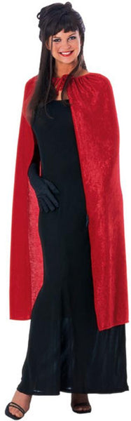 Adult 44 in. Panna Red Velvet Cape