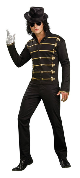 Adult Michael Jackson Black Military Jacket