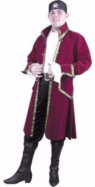 Adult Red Pirate Captain Deluxe Costume