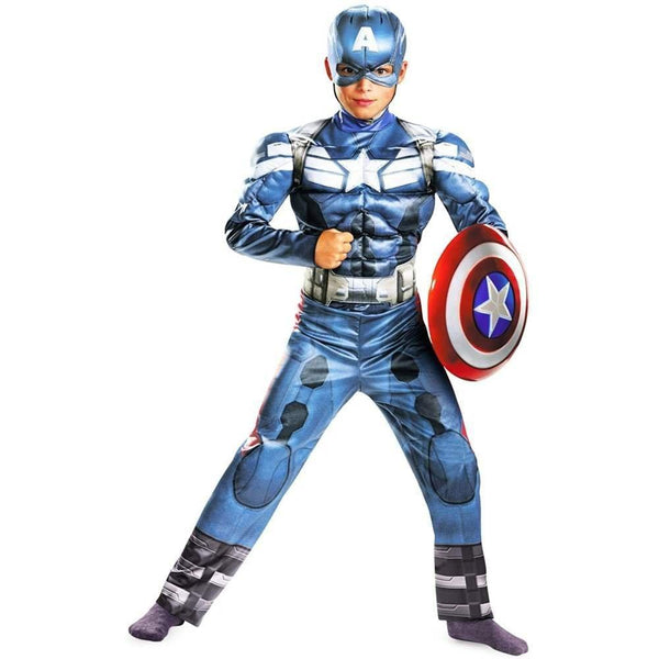 Kids Captain America Movie 2 Classic Muscle Costume
