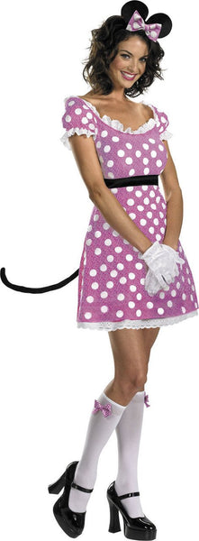 Adult Sassy Pink Minnie Mouse Costume