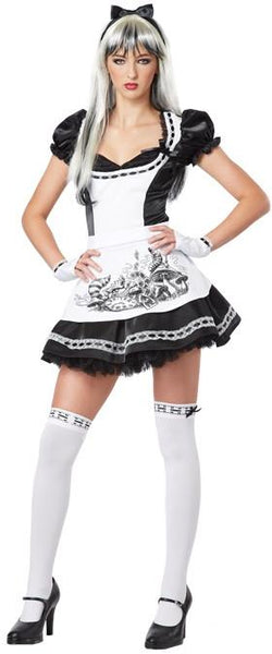 Teen Goth Punk Alice in Wonderland Costume