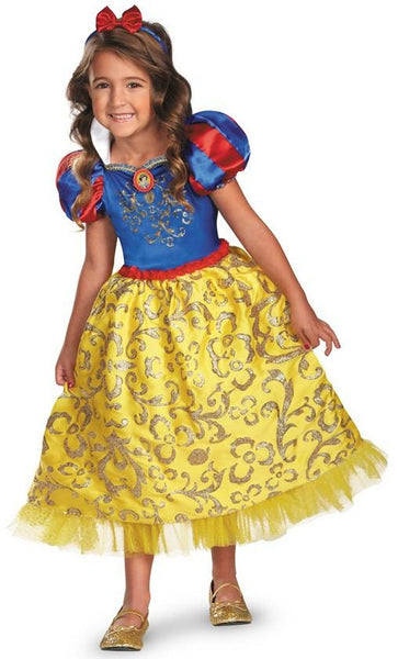 Kids Snow White Sparkle Deluxe Costume