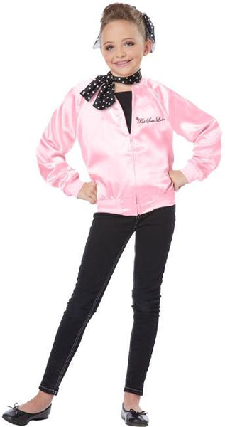 Kids The Pink Satin Ladies Costume