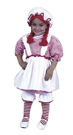 Raggedy Ann Toddler Red Costume