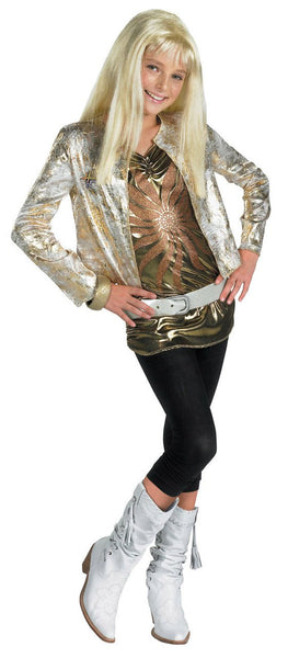 Kids Hannah Montana Costume - Deluxe Gold jacket& Wig