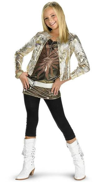 Kids Hannah Montanta Costume - Deluxe w/ Gold Jacket