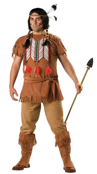 Adult Indian Brave Plus Costume