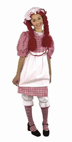 Kids Red Raggedy Ann Costume