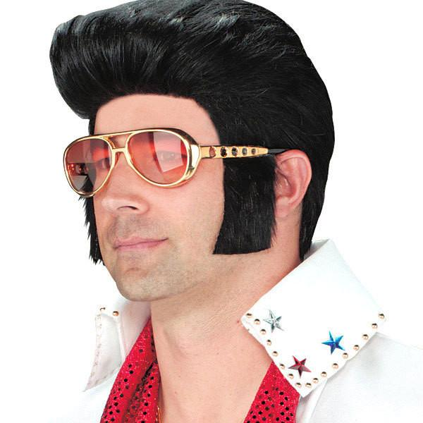 Elvis Presley Sunglasses with Attached Sideburns