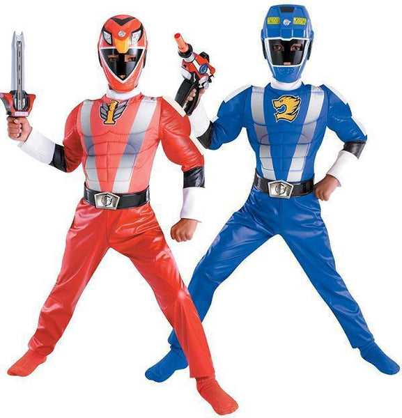 Kids Reversible Power Ranger Costume - Red to Blue