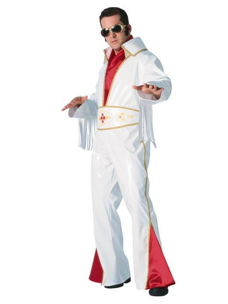 Adult White Vinyl Rock Star Costume