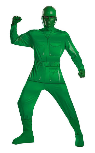 Adult Green Army Man Deluxe Costume