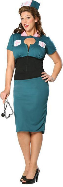 Night Nurse Nora Adult Plus Costume