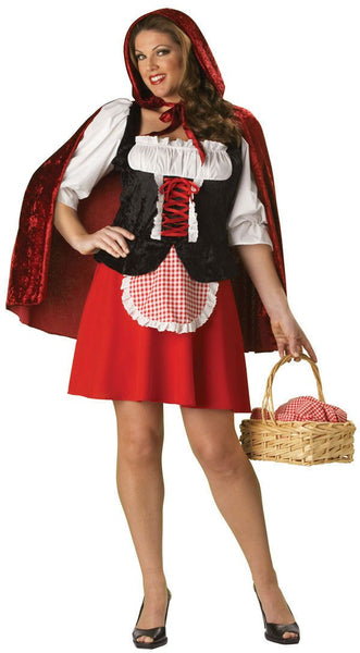 Adult Plus Red Riding Hood Costume