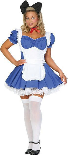 Adult Plus Alice in Wonderland Costume