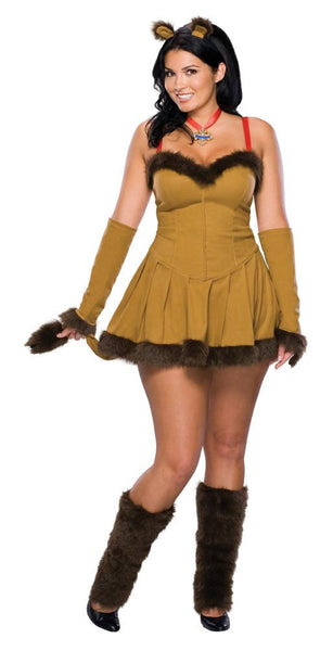 Adult Plus Cowardly Lion Costume