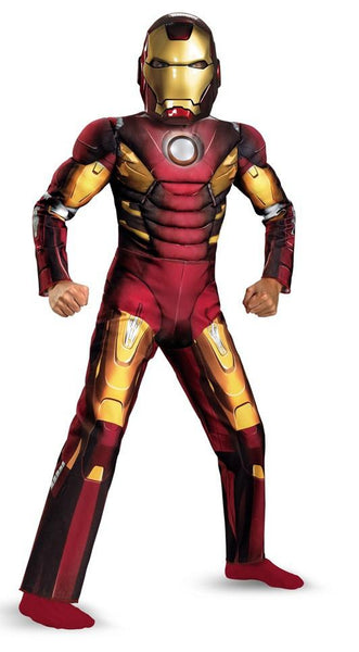 Child Iron Man Mark VII Light-Up Muscle Costume