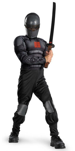 Kids Light-Up Muscle Snake Eyes Costume
