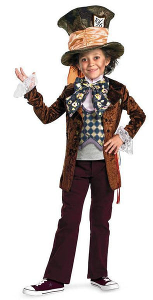 Kids Mad Hatter Deluxe Costume