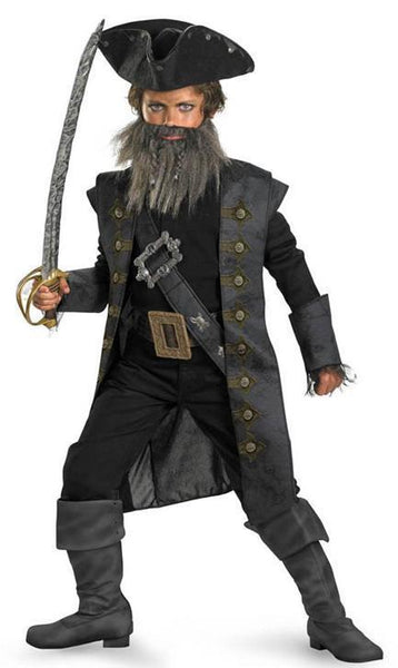 Kids Blackbeard Deluxe Costume