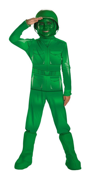 Kids Green Army Man Deluxe Costume