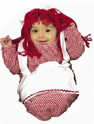 Raggedy Ann Red Baby Bunting Costume