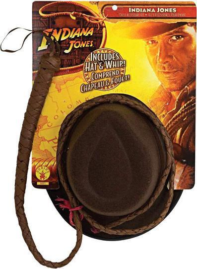 Adult Indiana Adult Jones Hat & Whip