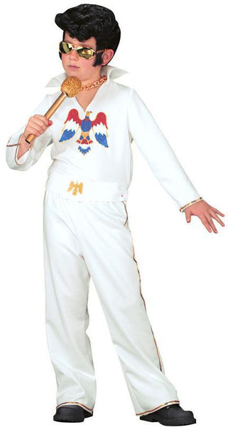 Elvis Presley Kids Costume - White Jumpsuit