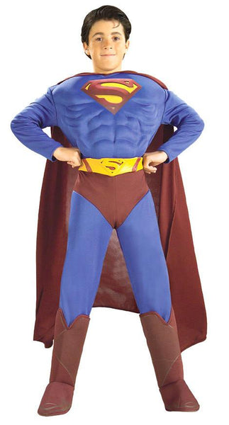 Kids Superman Returns Muscle Deluxe Costume