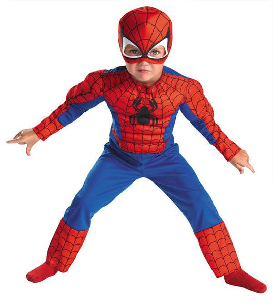 Toddler Spiderman Muscle Chest Costume