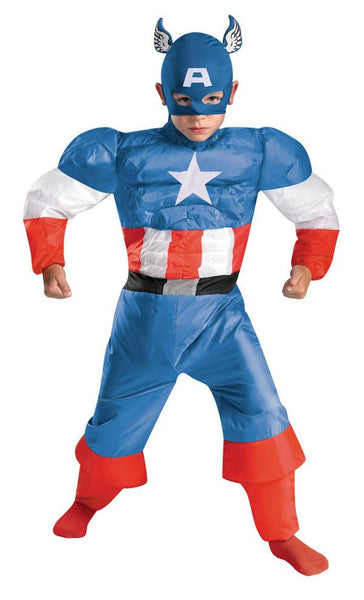 Kids Captain America Inflatable Costume