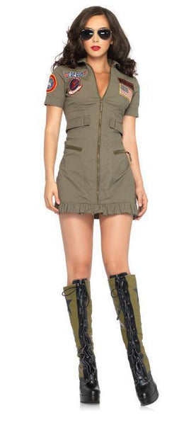 Adult Top Gun Women's Flight dressCostume
