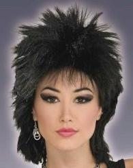 Adult 80's Rock Idol Black Wig