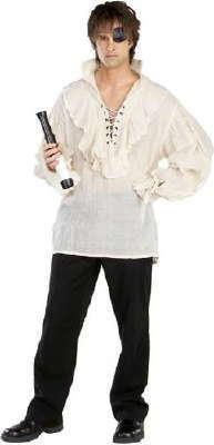 Adult Linen Pirate Shirt Costume
