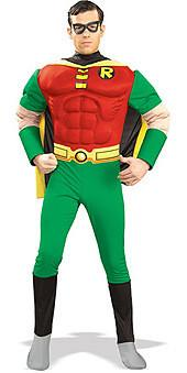 Adult Robin Costume - Deluxe Muscle Chest
