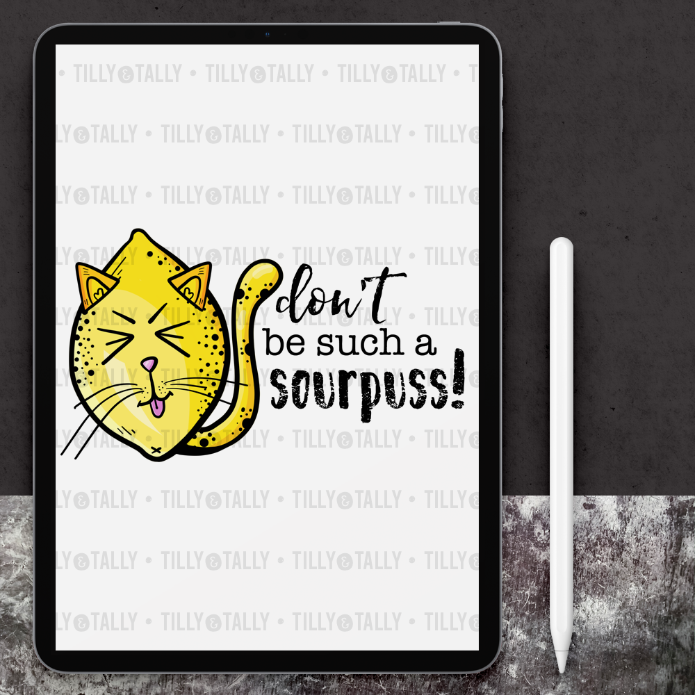 Sourpuss Lemon Die Cut