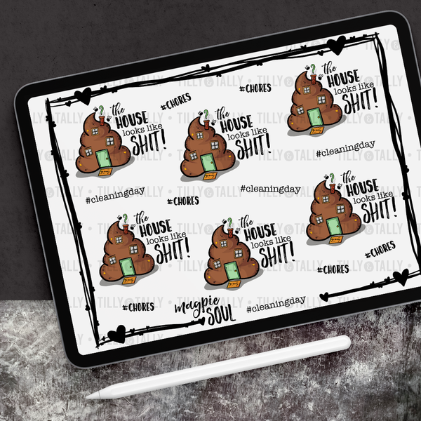House Looks Like Sh*t! Sticker Sheet