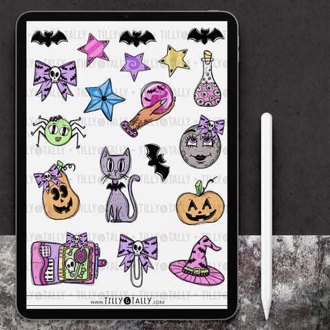 Pastel Halloween Sticker Sheet