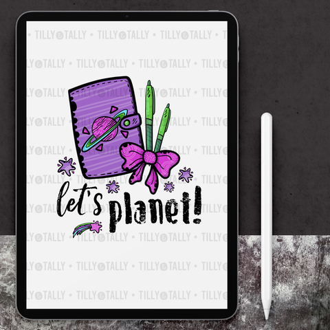 Let's Planet! Die Cut